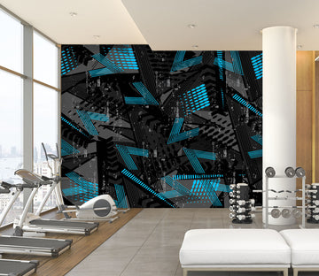 3D Blue Pattern 289 Wall Murals