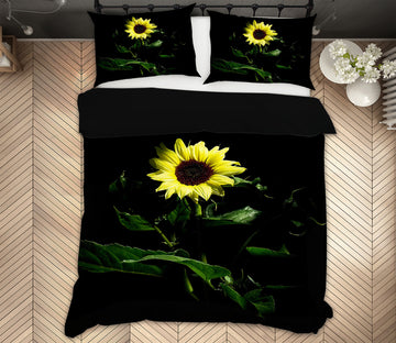 3D Sunflower 2130 Kathy Barefield Bedding Bed Pillowcases Quilt