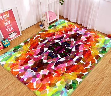 3D Colored Geometric Pattern 1001 Shandra Smith Rug Non Slip Rug Mat