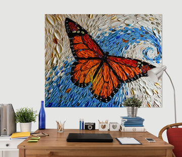 3D Painted Butterfly 029 Dena Tollefson Wall Sticker