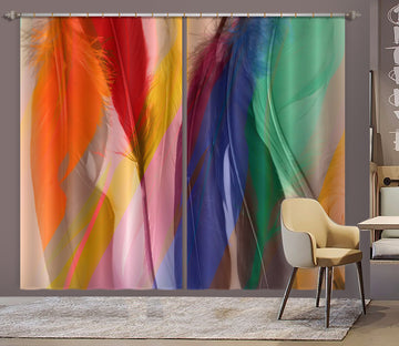 3D Colored Feathers 71051 Shandra Smith Curtain Curtains Drapes