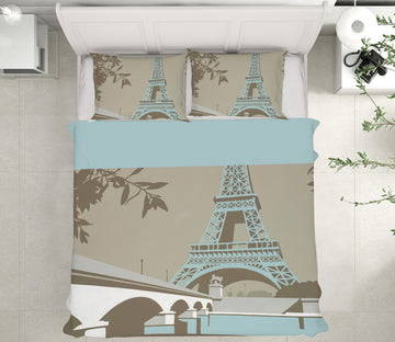 3D Paris 2036 Steve Read Bedding Bed Pillowcases Quilt