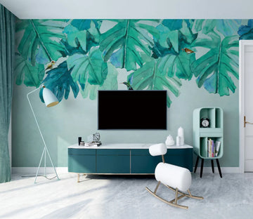 3D Bird Leaves WC2663 Wall Murals