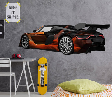 3D FP Orange Sports Car 0174 Vehicles Wallpaper AJ Wallpaper