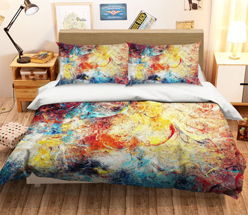 3D Abstract Color Painting 007 Bed Pillowcases Quilt Wallpaper AJ Wallpaper