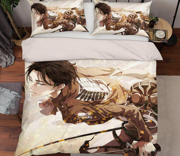 3D Attack On Titan 15 Anime Bed Pillowcases Quilt Quiet Covers AJ Creativity Home