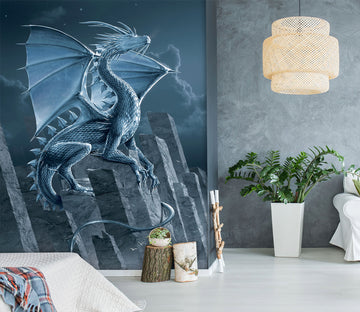3D Silver Dragon 1550 Wall Murals Exclusive Designer Vincent