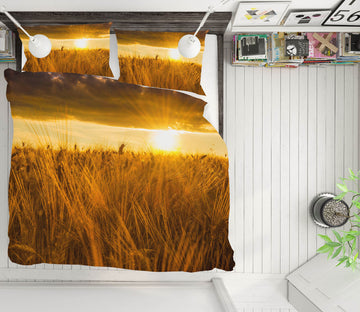 3D Sunny Wheat Field 046 Marco Carmassi Bedding Bed Pillowcases Quilt