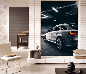 3D Silver Super Run 447 Vehicle Wall Murals