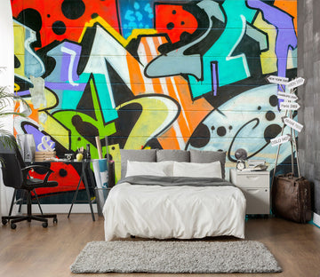 3D Colorful Graffiti Wall 96 Wall Murals