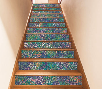 3D Full-Blown Flowers 66 Stair Risers Wallpaper AJ Wallpaper