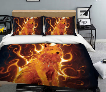 3D Phoenix Wolf Def 069 Bed Pillowcases Quilt Exclusive Designer Vincent