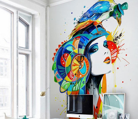 3D Color Lady Avatar 544 Wall Murals