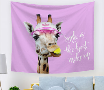 3D Cute Giraffe 2403 Tapestry Hanging Cloth Hang
