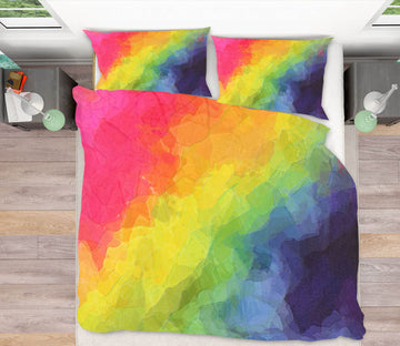 3D Rainbow Color 2003 Shandra Smith Bedding Bed Pillowcases Quilt