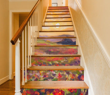 3D Flowers 964 Stair Risers Wallpaper AJ Wallpaper