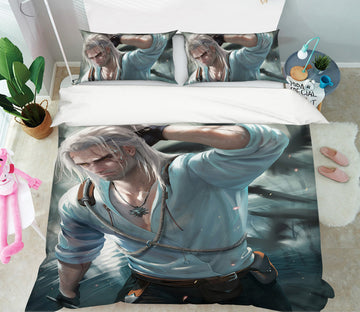 3D Mighty Man 440 CG Anime Bed Pillowcases Duvet Cover Quilt Cover