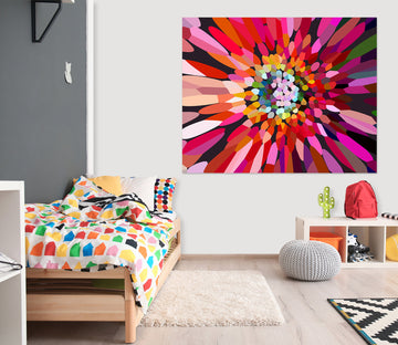 3D Pink Flower Horizontal 71111 Shandra Smith Wall Sticker