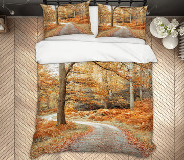 3D Deciduous Path 1068 Assaf Frank Bedding Bed Pillowcases Quilt