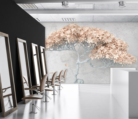 3D Tree Branch Leaves 50 Wall Murals