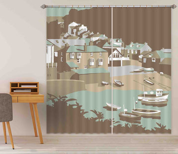 3D Port Isaac 135 Steve Read Curtain Curtains Drapes