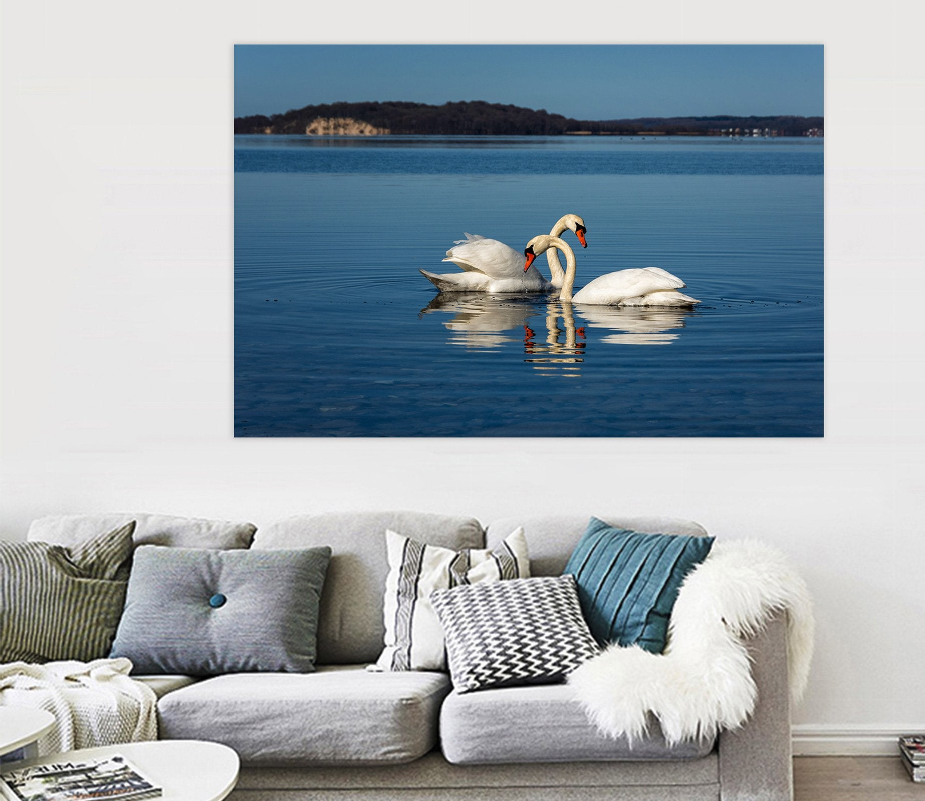 3D Swan Lake 121 Animal Wall Stickers
