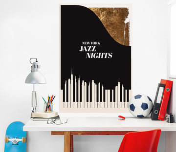 3D Abstract Piano 166 Boris Draschoff Wall Sticker