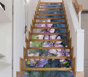 3D Flowers 3528 Stair Risers Wallpaper AJ Wallpaper