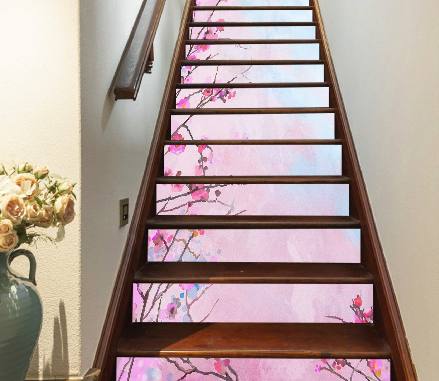 3D Flowers 528 Stair Risers Wallpaper AJ Wallpaper