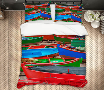 3D Color Boat 142 Marco Carmassi Bedding Bed Pillowcases Quilt