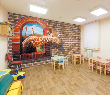3D Cartoon giraffe 21 Wall Murals