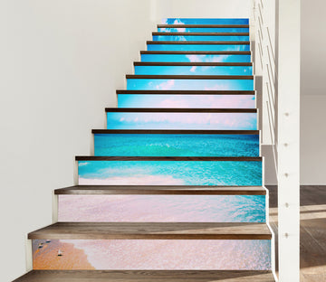 3D Comfortable Blue Sea 635 Stair Risers