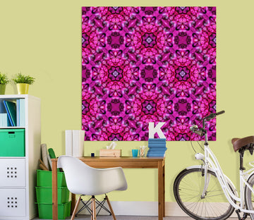 3D Purple Pattern 007 Shandra Smith Wall Sticker