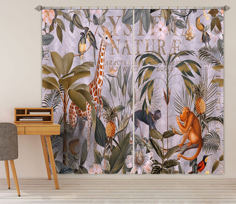3D Animal Home 078 Andrea haase Curtain Curtains Drapes