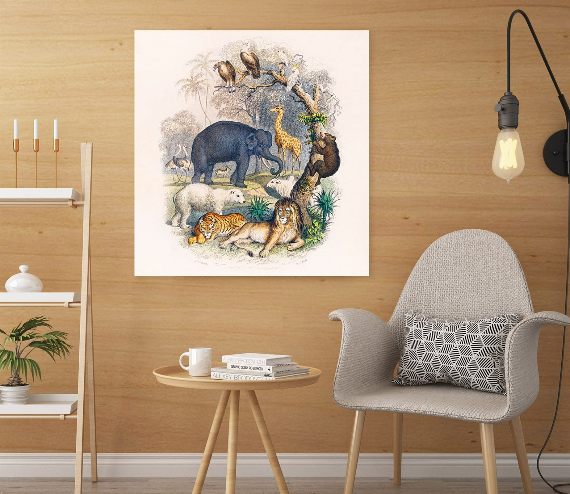 3D Zoo 138 Animal Wall Stickers