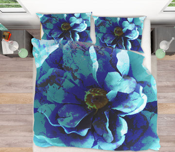 3D Blue Flower 70186 Shandra Smith Bedding Bed Pillowcases Quilt