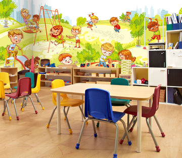 3D Cartoon Playground 182 Wall Murals