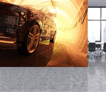 3D Transparent Cars 401 Vehicle Wall Murals