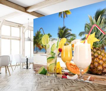 3D Fruit Juice 253 Wall Murals