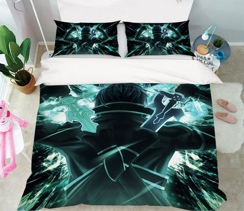 3D Sword Art Online 1879 Anime Bed Pillowcases Quilt