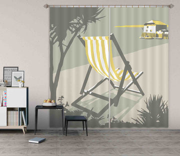 3D Rock Deckchair 138 Steve Read Curtain Curtains Drapes