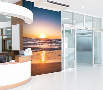 3D Beach Clear Sky Dawn 014 Wall Murals
