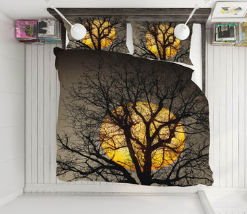 3D Sunset Over the Tree 145 Marco Carmassi Bedding Bed Pillowcases Quilt