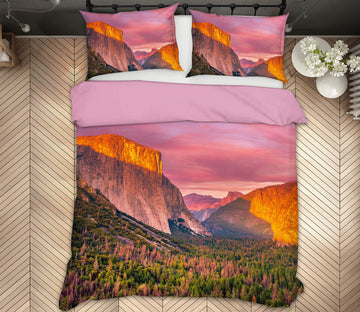 3D Yosemite Valley Sunset 170 Marco Carmassi Bedding Bed Pillowcases Quilt