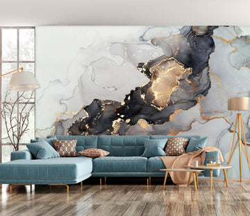 3D Black Painting 1144 Wall Murals