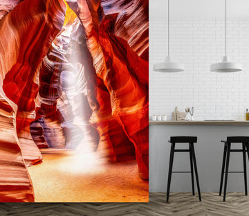 3D Red Cave 1442 Marco Carmassi Wall Mural Wall Murals