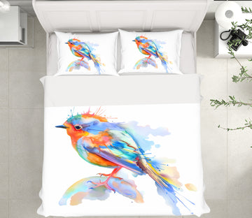 3D Colorful Watercolor Bird 63233 Bed Pillowcases Quilt