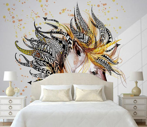 3D Abstract Horse 200 Wall Murals Wallpaper AJ Wallpaper 2