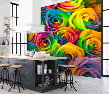 3D Colored Rose 142 Wall Murals
