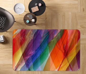 3D Colored Feathers 71005 Shandra Smith Rug Non Slip Rug Mat